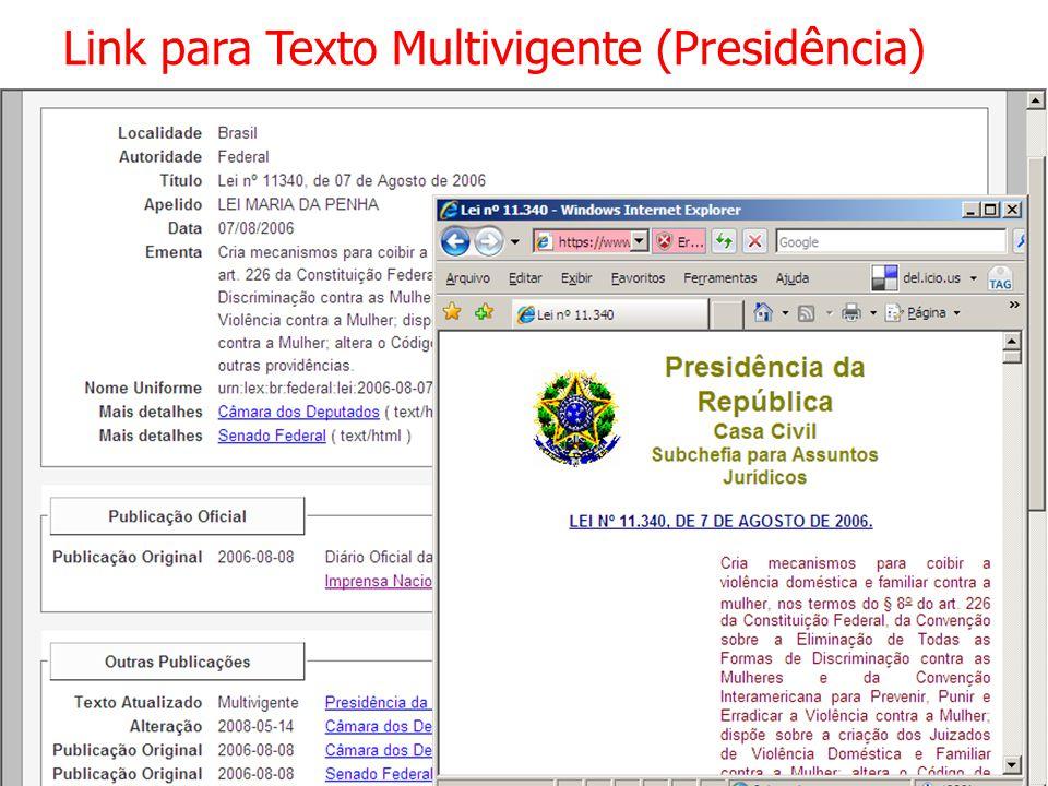 Link para Texto Multivigente (Presidência)