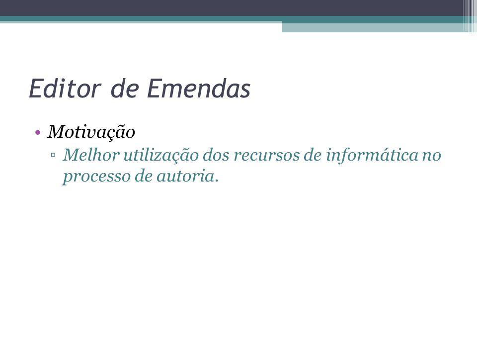 Motivação ▫Melhor utilização dos recursos de informática no processo de autoria.