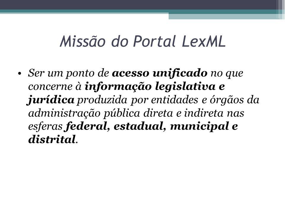 Outras Ferramentas Parser ▫Conversor para o formato LexML Renderer ▫conversor do formato LexML Linker ▫identifica remissões internas e externas