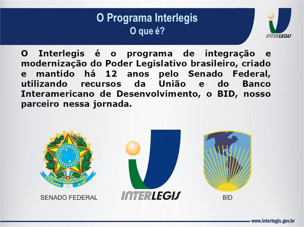 O Interlegis é o programa de integração e modernização do Poder Legislativo brasileiro, criado e mantido há 12 anos pelo Senado Federal, utilizando re