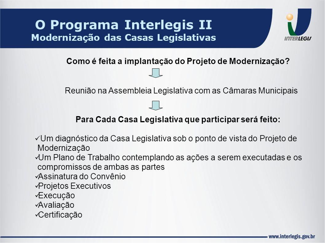 Como é feita a implantação do Projeto de Modernização? Reunião na Assembleia Legislativa com as Câmaras Municipais Para Cada Casa Legislativa que part