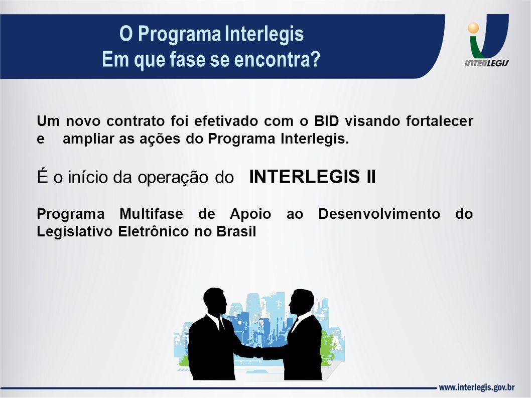 Um novo contrato foi efetivado com o BID visando fortalecer e ampliar as ações do Programa Interlegis. É o início da operação do INTERLEGIS II Program