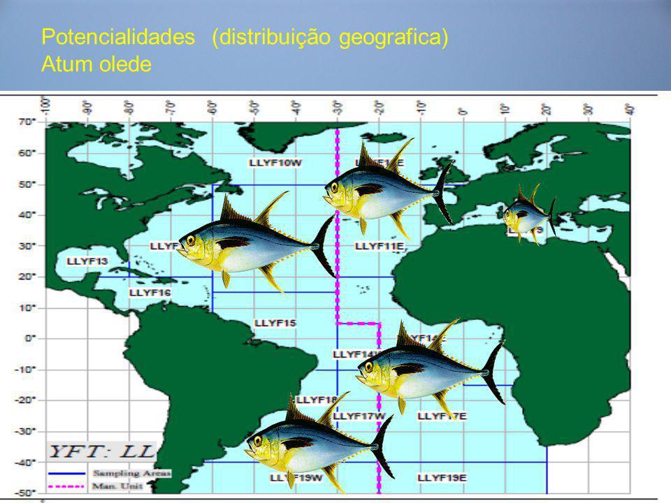 Potencialidades (distribuição geografica) Atum olede