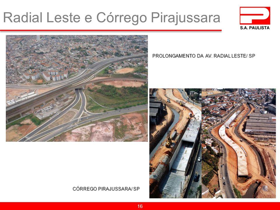 Radial Leste e Córrego Pirajussara 16 PROLONGAMENTO DA AV. RADIAL LESTE/ SP CÓRREGO PIRAJUSSARA/ SP
