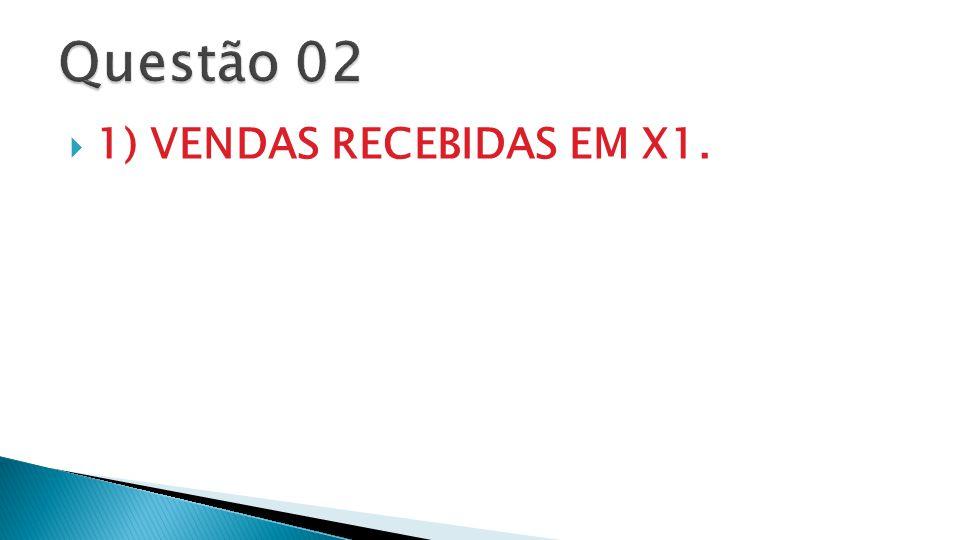X0 X1 Receitas Realizadas Clientes Caixa Receitas Recebidas