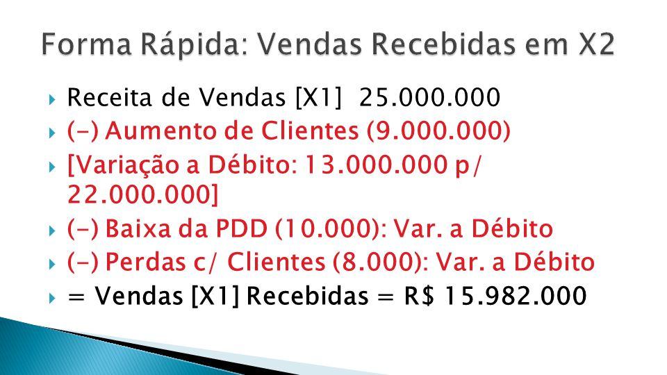  3) VENDAS RECEBIDAS EM X3.
