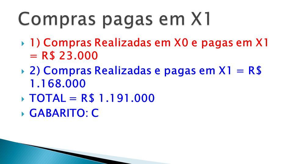  X1  Compras 1.200.000  (-) Aumento de Fornecedores (9.000)  [32.000 – 23.000].