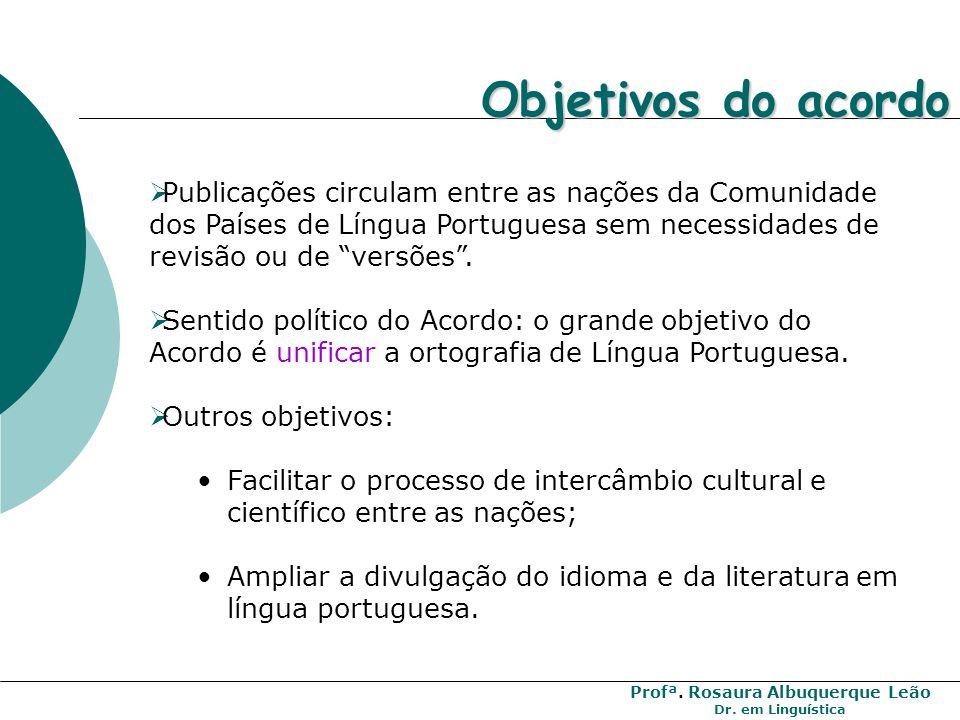 Profª. Rosaura Albuquerque Leão Dr. em Linguística O que muda com a nova ortografia no Brasil: