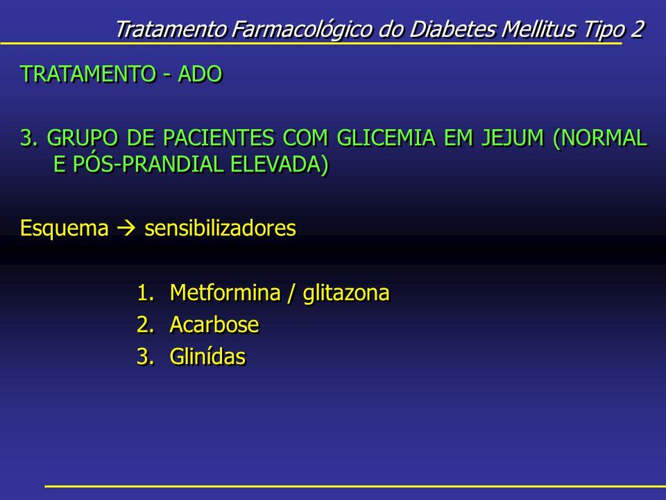Tratamento Farmacológico do Diabetes Mellitus Tipo 2 TRATAMENTO - ADO 3.