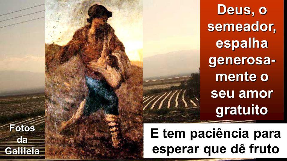 Fotos da Galileia Deus, o semeador, espalha generosa- mente o seu amor gratuito E tem paciência para esperar que dê fruto