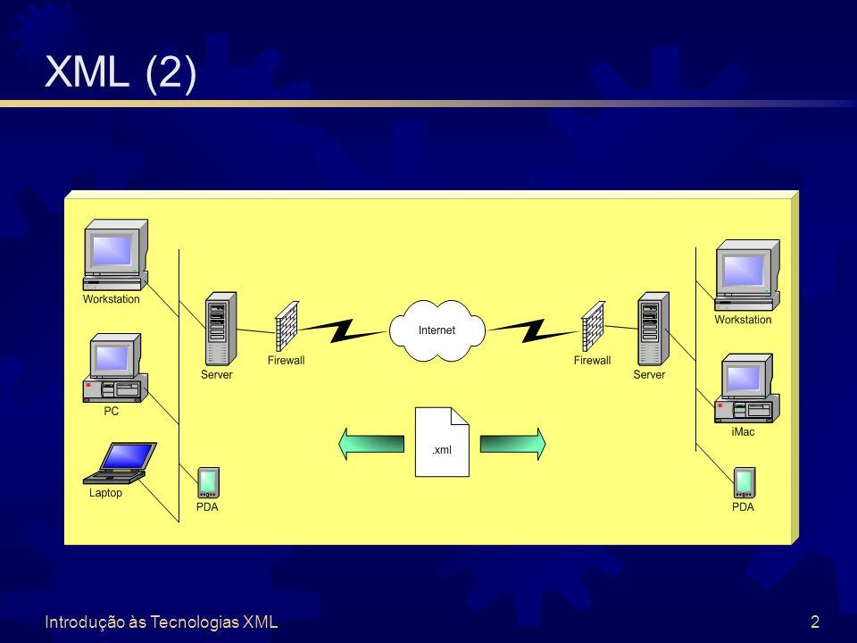 Introdução às Tecnologias XML2 XML (2)
