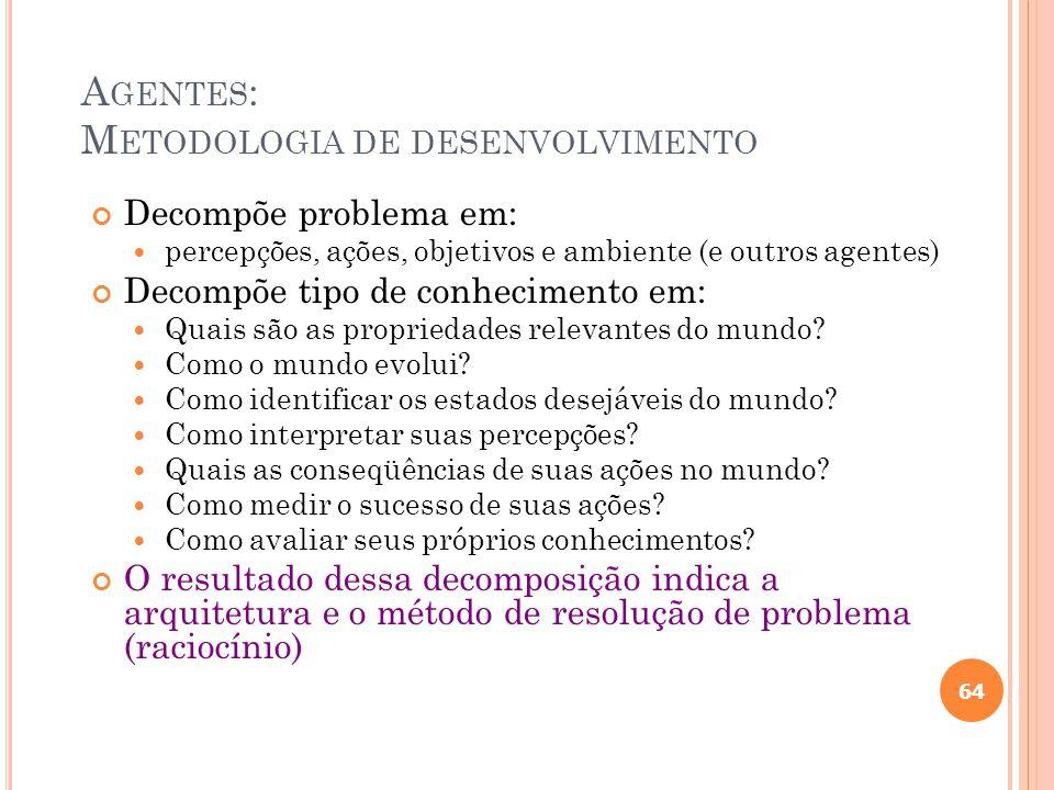 A GENTES EM IA Metodologia (metáfora) para projeto de sistemas 63