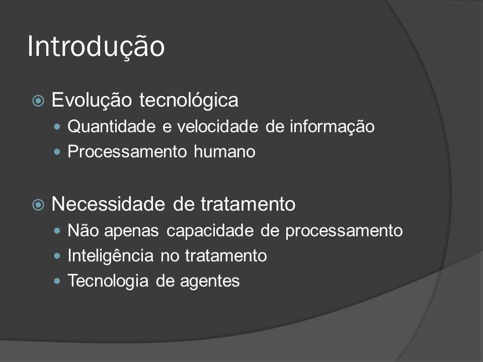 Introdução  Evolução tecnológica Quantidade e velocidade de informação Processamento humano  Necessidade de tratamento Não apenas capacidade de proc