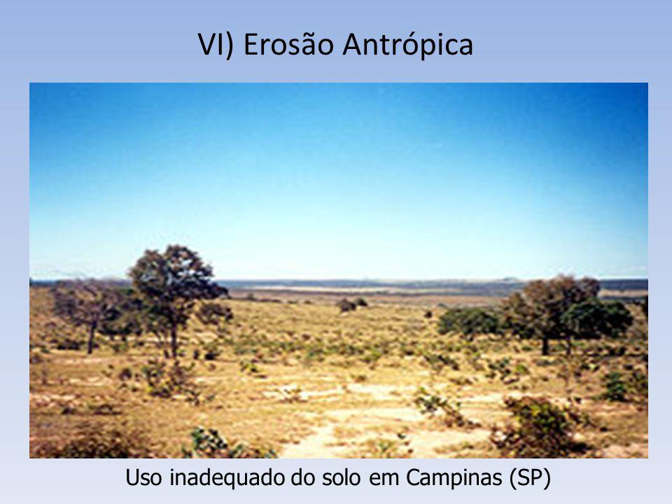 VI) Erosão Antrópica Uso inadequado do solo em Campinas (SP)