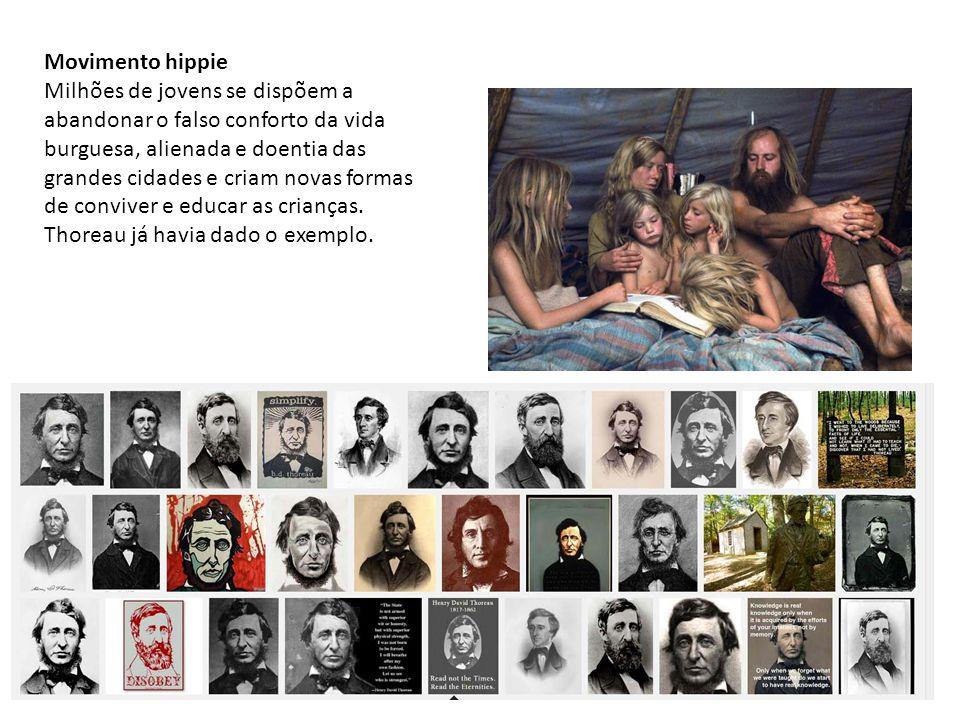 Movimento hippie Milhões de jovens se dispõem a abandonar o falso conforto da vida burguesa, alienada e doentia das grandes cidades e criam novas form