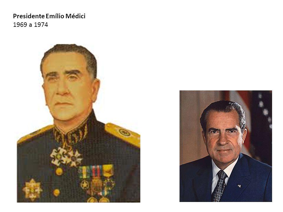 Presidente Emílio Médici 1969 a 1974
