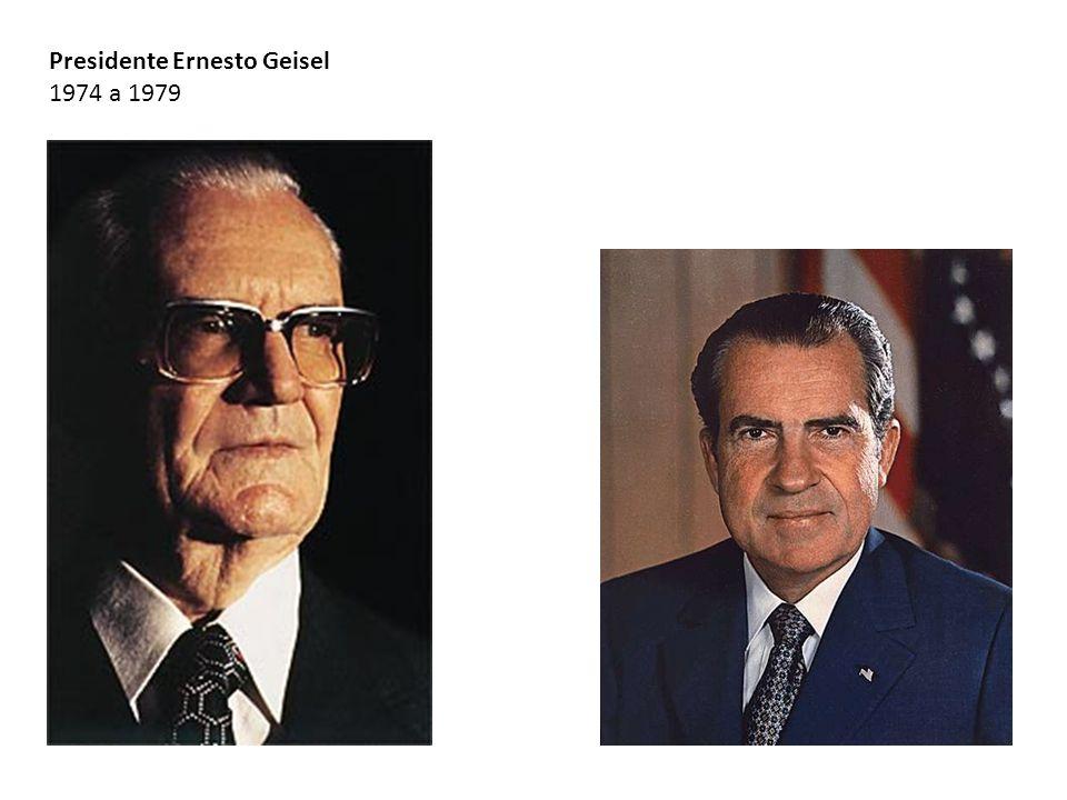 Presidente Ernesto Geisel 1974 a 1979