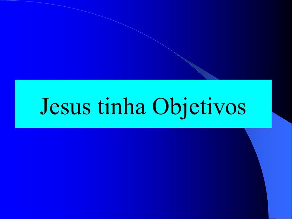Jesus tinha Objetivos