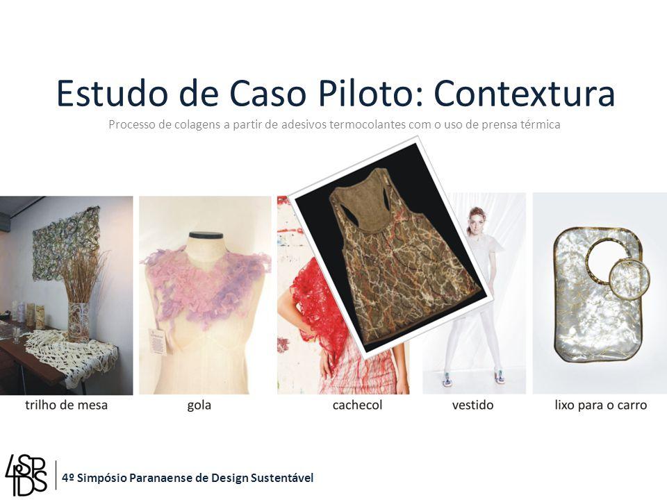 Estudo de Caso Piloto: Contextura Processo de colagens a partir de adesivos termocolantes com o uso de prensa térmica 4º Simpósio Paranaense de Design