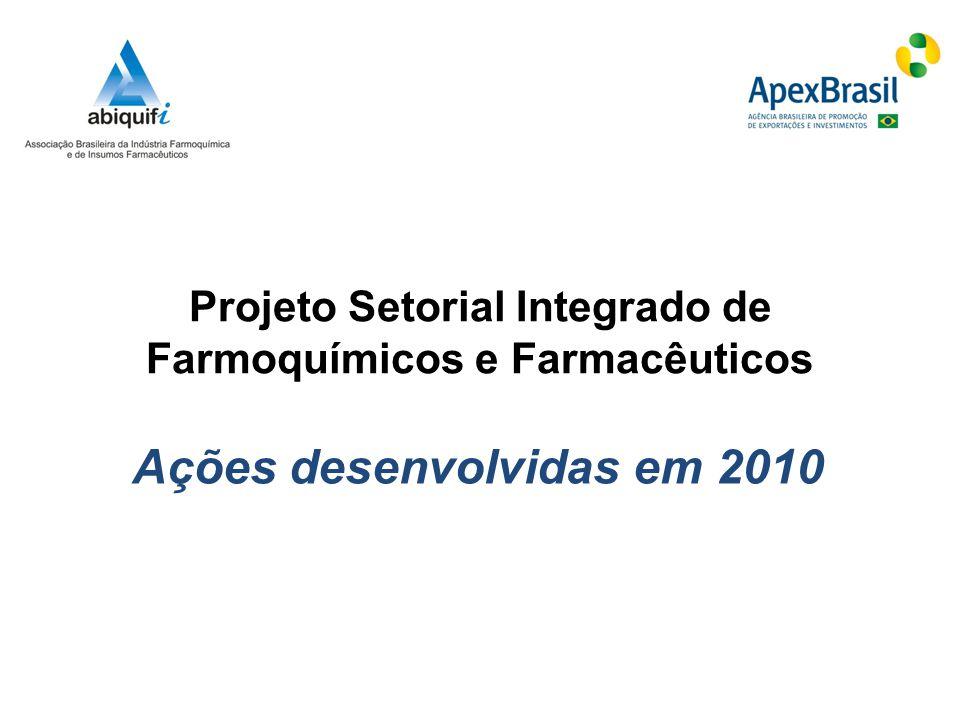 Projeto Setorial Integrado de Farmoquímicos e Farmacêuticos Ações desenvolvidas em 2010