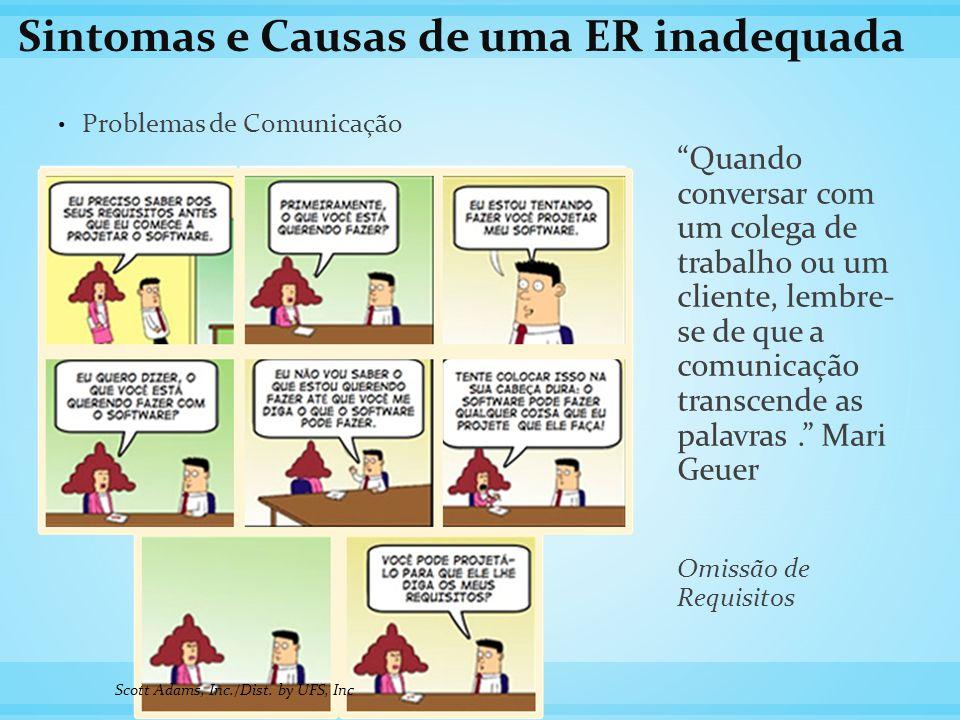 """Sintomas e Causas de uma ER inadequada Problemas de Comunicação """"Quando conversar com um colega de trabalho ou um cliente, lembre- se de que a comunic"""
