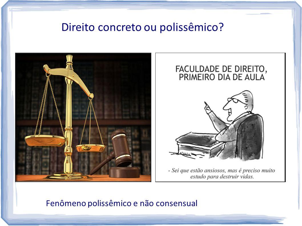 Direito concreto ou polissêmico? Fenômeno polissêmico e não consensual