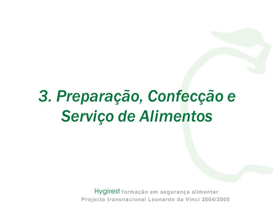 3. Preparação, Confecção e Serviço de Alimentos