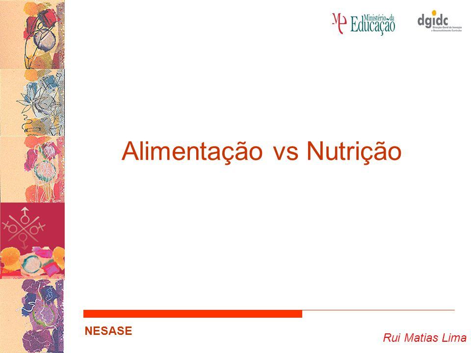 Rui Matias Lima NESASE Alimentação Acção ou efeito de alimentar.