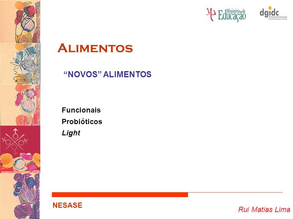 "Rui Matias Lima NESASE Alimentos Funcionais Probióticos Light ""NOVOS"" ALIMENTOS"