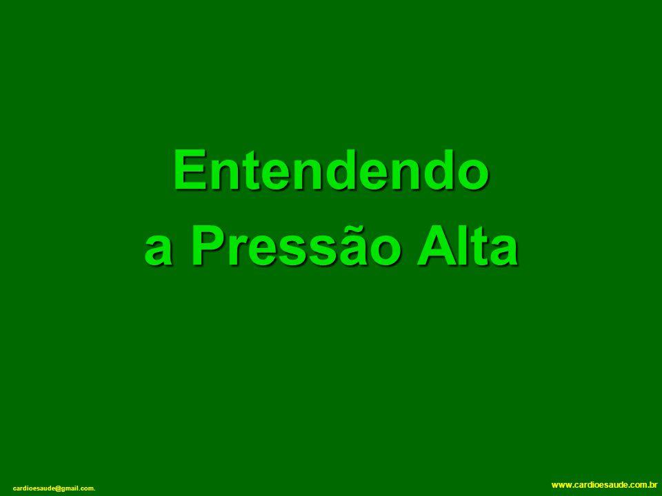 cardioesaude@gmail.com. www.cardioesaude.com.br Entendendo a Pressão Alta