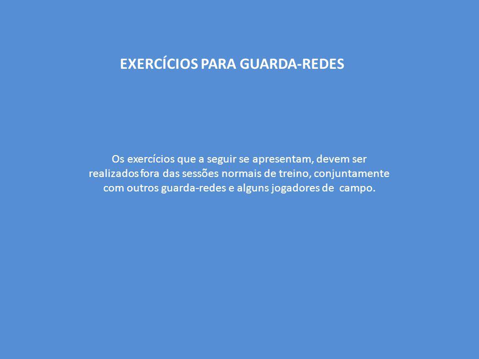 EXERCÍCIOS PARA GUARDA-REDES Os exercícios que a seguir se apresentam, devem ser realizados fora das sessões normais de treino, conjuntamente com outr