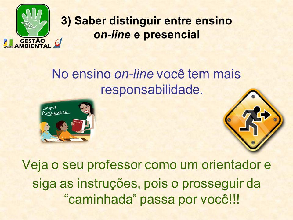 4) Interação do professor com os alunos e destes entre si Ensino presencial PROFESSOR ALUNOS Quando a interação aluno-professor não acontece o aprendizado pode não ser afetado.