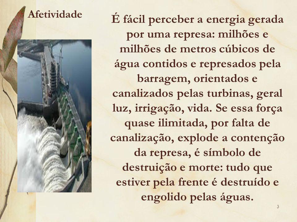 Se essa força quase ilimitada, por falta de canalização, explode a contenção da represa, é símbolo de destruição e morte: tudo que estiver pela frente é destruído e engolido pelas águas.