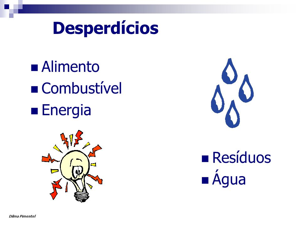 Desperdícios Alimento Combustível Energia Resíduos Água Dilma Pimentel