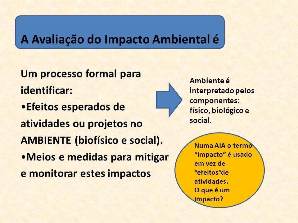 O impacto de uma atividade é um desvio (uma mudança) de uma situação base causada por essa atividade.