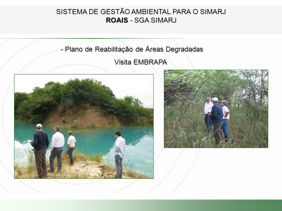 SISTEMA DE GESTÃO AMBIENTAL PARA O SIMARJ ROAIS - SGA SIMARJ - Plano de Reabilitação de Áreas Degradadas - Plano de Reabilitação de Áreas Degradadas V
