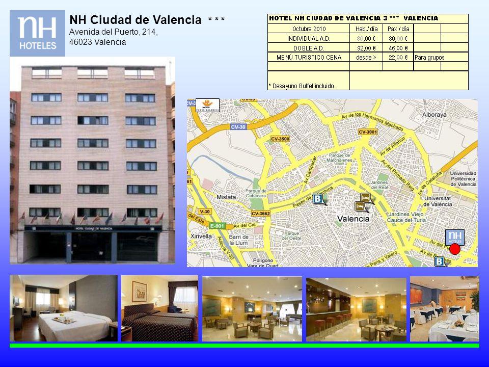 NH Ciudad de Valencia * * * Avenida del Puerto, 214, 46023 Valencia