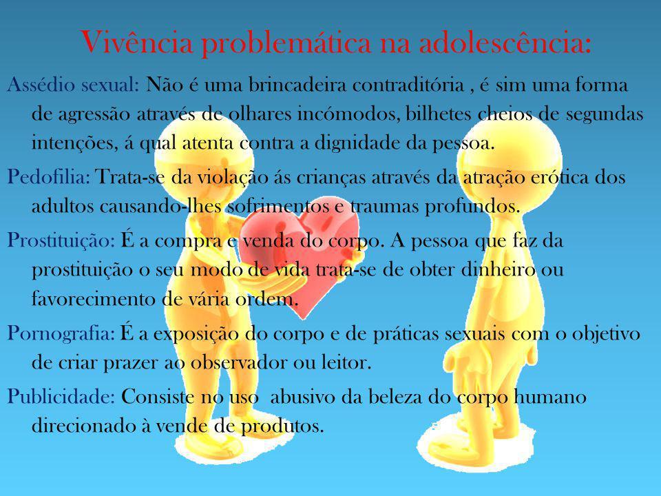 Vivência problemática na adolescência: Assédio sexual: Não é uma brincadeira contraditória, é sim uma forma de agressão através de olhares incómodos,