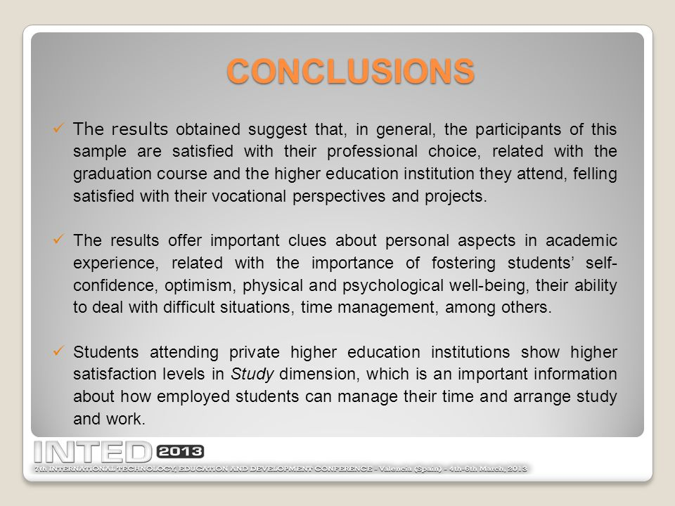 Students coming from rural areas seems to feel more optimistic and self-confidence, being able to better deal with the academic changes, especially in the end of their graduation courses, when the professional future plan's expectations becomes more intense.