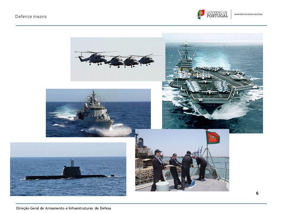 Direção-Geral de Armamento e Infraestruturas de Defesa 6 Defence means