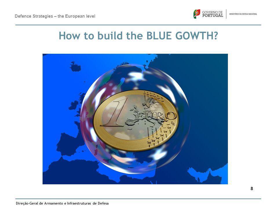 Direção-Geral de Armamento e Infraestruturas de Defesa 8 How to build the BLUE GOWTH? Defence Strategies – the European level