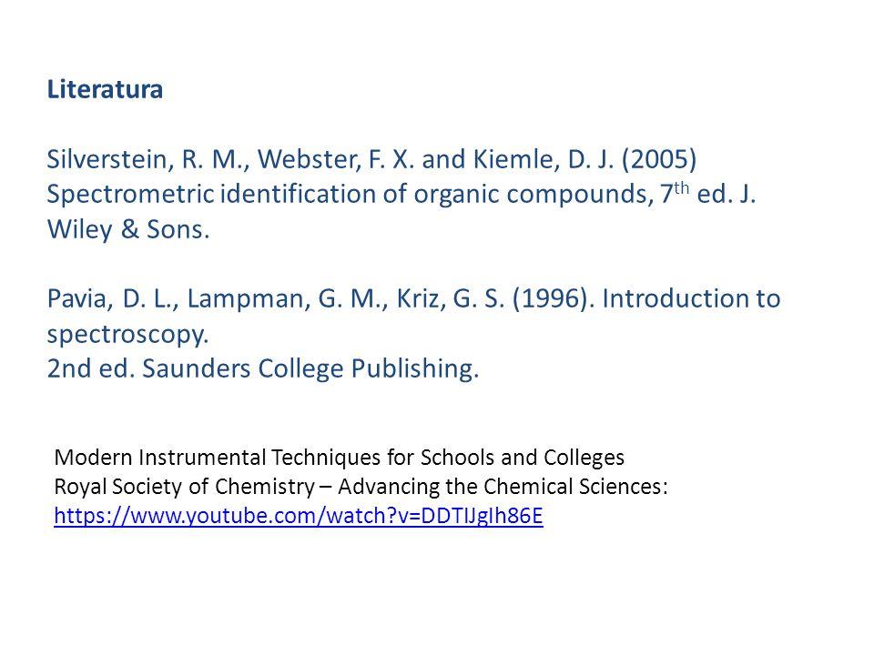 Carbonyl compounds : Acids C=O OH C=O : 1711 cm -1 OH : Very Broad 3300 to 2500 cm -1 C-O : 1285, 1207 cm -1