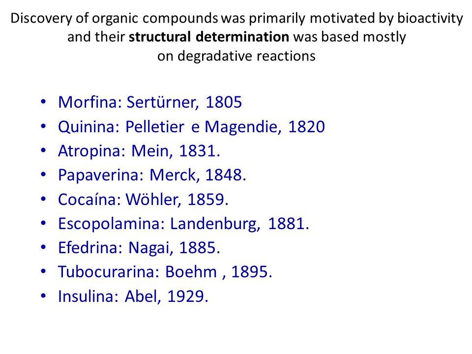 Penicilina: Fleming, 1929.Dicumarol: Link, 1941. Cloranfenicol: Burkholder, 1947.