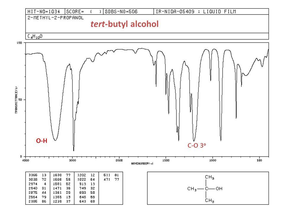tert-butyl alcohol C-O 3 o O-H