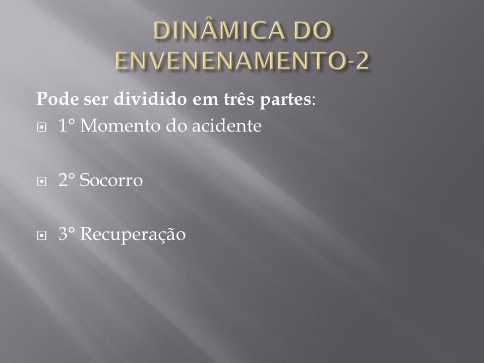 Pode ser dividido em três partes :  1° Momento do acidente  2° Socorro  3° Recuperação