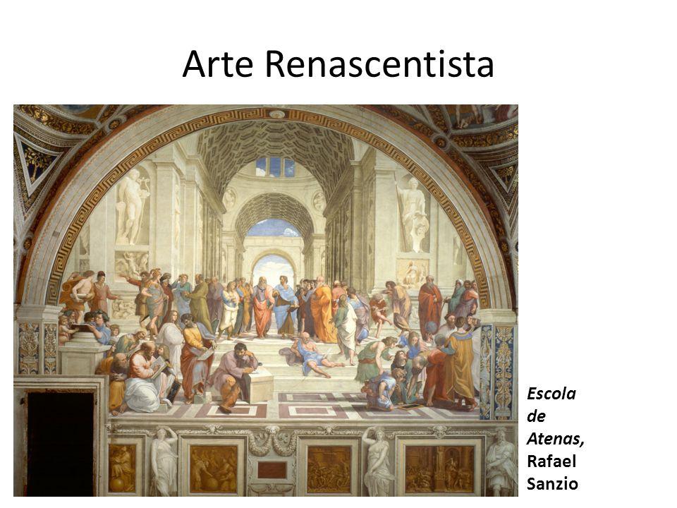 Arte Renascentista Escola de Atenas, Rafael Sanzio
