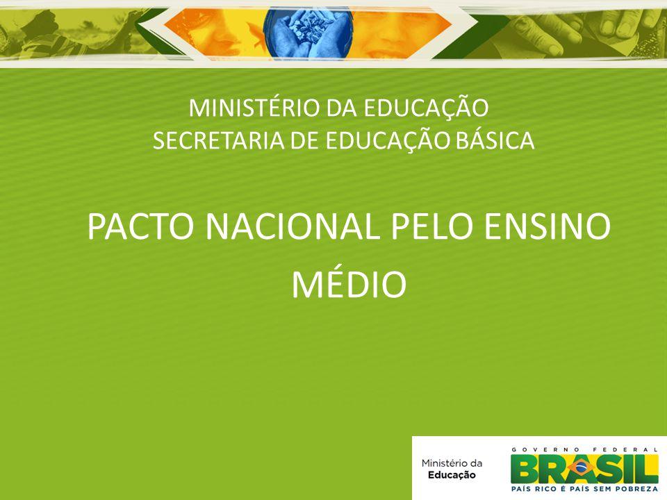 MINISTÉRIO DA EDUCAÇÃO SECRETARIA DE EDUCAÇÃO BÁSICA PACTO NACIONAL PELO ENSINO MÉDIO