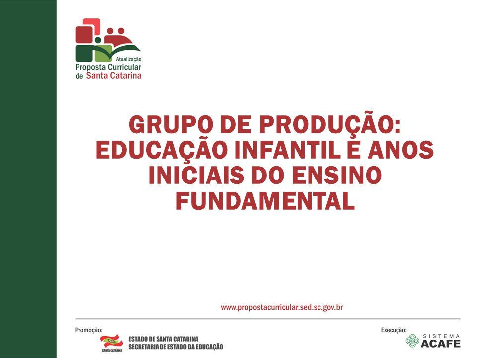 GRUPO DE PRODUÇÃO: EDUCAÇÃO INFANTIL E ANOS INICIAIS DO ENSINO FUNDAMENTAL