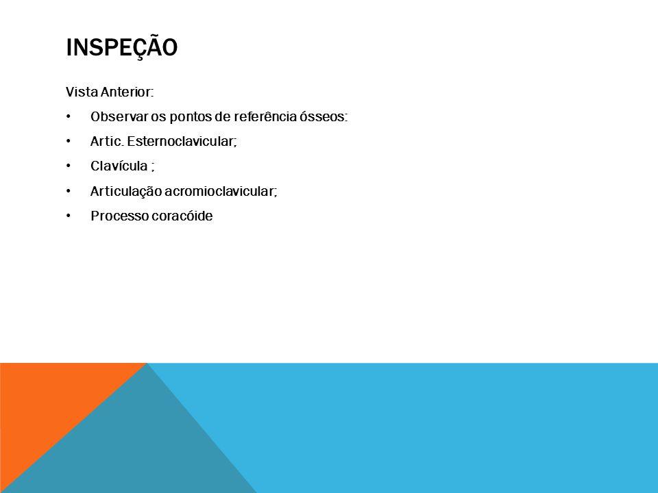 2)TESTES ESCAPULARES: TESTE DE ASSISTÊNCIA ESCAPULAR .