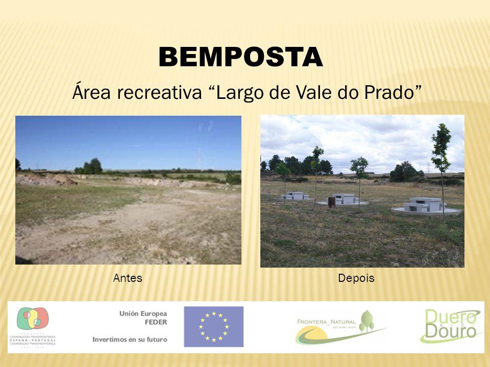 """BEMPOSTA Área recreativa """"Largo de Vale do Prado"""" AntesDepois"""